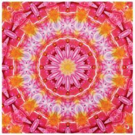 GRUND Mandala koberec SÍLA DOTEKU červený Typ: 100x100 cm Emotivní kolekce Mandala