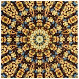 GRUND Mandala koberec SOUSTŘEDĚNÍ hnědý Typ: 120x120 cm
