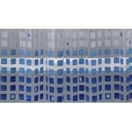 GRUND Sprchový závěs KASKADE modrý Typ: 120x180 cm Plastové závěsy (PVC)