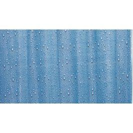GRUND Sprchový závěs GOCCE modrý Plastové závěsy (PVC)