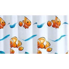GRUND Sprchový závěs PESCE modro-oranžový Typ: 240x180 cm