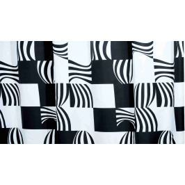 GRUND Sprchový závěs NERO černý Textilní závěsy