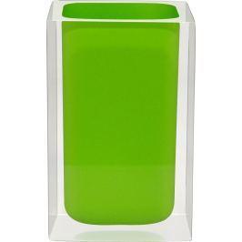 GRUND Kelímek na kartáčky CUBE zelený