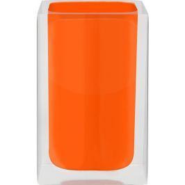 GRUND Kelímek na kartáčky CUBE pomerančový