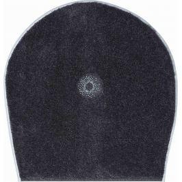 GRUND Koupelnová předložka CRYSTAL LIGHT antracitová Typ: 47x50 cm - na víko od WC nebo jako podsedák na židli