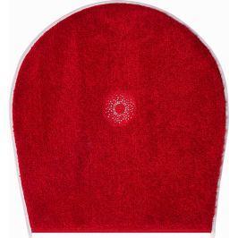 GRUND Koupelnová předložka CRYSTAL LIGHT rubínová Typ: 47x50 cm - na víko od WC nebo jako podsedák na židli Exklusivní kolekce SWAROVSKI