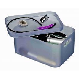 WENKO Organizér na kosmetiku ICE CUBE šedý Úložné boxy