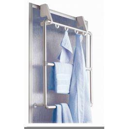 WENKO Věšák na ručníky k zavěšení na dveře a sprchové kouty COMPACT bílý