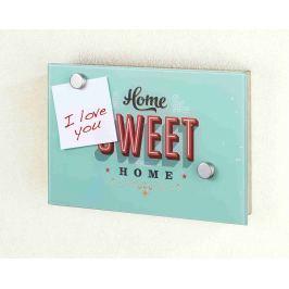 WENKO Magnetická skříňka na klíče velká HOME SWEET HOME modrá