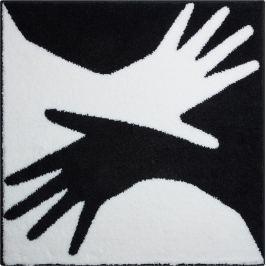 GRUND Čtvercová předložka BODY bílá 90x90 cm