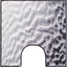GRUND Koupelnová předložka SAND šedá Typ: 55x55 cm s výřezem pro WC
