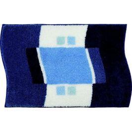 GRUND Koupelnová předložka LUGANO modrá Typ: 47x50 cm - na víko od WC nebo jako podsedák na židli
