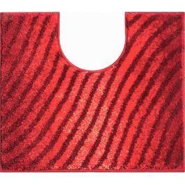 GRUND Koupelnová předložka ETERNITY rubínová Typ: 50x60 cm s výřezem pro WC