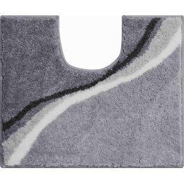 GRUND Koupelnová předložka LUCA šedá Typ: 50x60 cm s výřezem pro WC