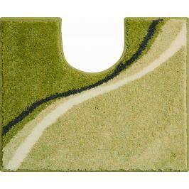 GRUND Koupelnová předložka LUCA zelená Typ: 50x60 cm s výřezem pro WC