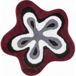 GRUND Koupelnová předložka Colani 1  červená Typ: kruh 80 cm