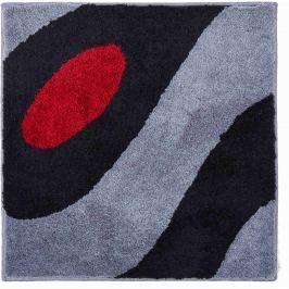GRUND Koupelnová předložka Colani 35 světle šedá černá Typ: 60x60 cm Designová kolekce LUIGI COLANI