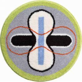 GRUND Koupelnová předložka KARIM 01 modrá Typ: kruh 80 cm