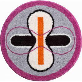 GRUND Koupelnová předložka KARIM 01 šedo-růžová Typ: kruh 80 cm