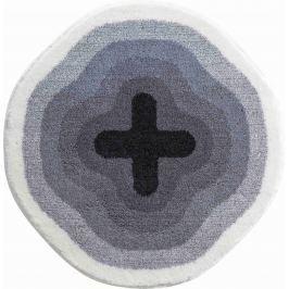 GRUND Koupelnová předložka KARIM 03 šedá Typ: kruh 60 cm