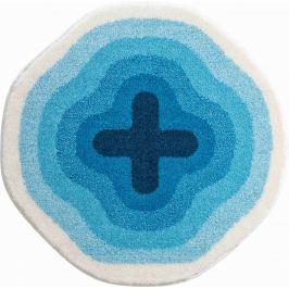 GRUND Koupelnová předložka KARIM 03 modrá Typ: kruh 60 cm