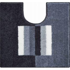 LineaDue Koupelnová předložka CAPRICIO šedá Typ: 55x60 cm s výřezem pro WC