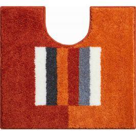 LineaDue Koupelnová předložka CAPRICIO pomerančová Typ: 55x60 cm s výřezem pro WC