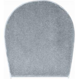 LineaDue Koupelnová předložka FLASH antracitová Typ: 47x50 cm - na víko od WC nebo jako podsedák na židli