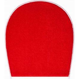 LineaDue Koupelnová předložka FLASH rubínová Typ: 47x50 cm - na víko od WC nebo jako podsedák na židli