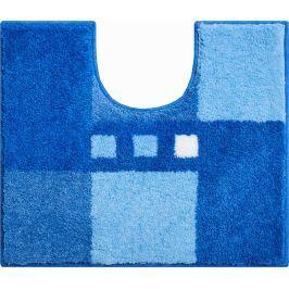 LineaDue Koupelnová předložka MERKUR modrá Typ: 50x60 cm s výřezem pro WC