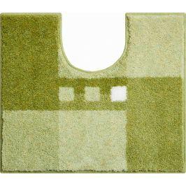 LineaDue Koupelnová předložka MERKUR zelená Typ: 50x60 cm s výřezem pro WC