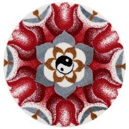 GRUND Mandala předložka HARMONIE PROTIKLADŮ červená Typ: kruh 60 cm