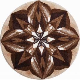 GRUND Mandala předložka SMYSLUPLNOST hnědá Typ: kruh 60 cm Koberce a koberečky