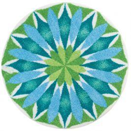 GRUND Mandala předložka SVÍTÁNÍ bleděmodrá Typ: kruh 60 cm Koberce a koberečky
