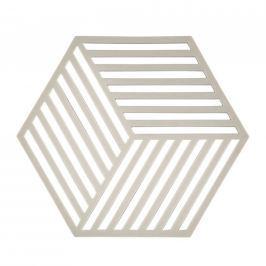 Silikonová podložka pod horké HEXAGON světle šedá - Zone (HEXAGON podložka pod hrnec světle šedá - Zone)