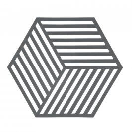Silikonová podložka pod horké HEXAGON šedá - Zone (HEXAGON podložka pod hrnec šedá - Zone) Podložky pod hrnce a pánve