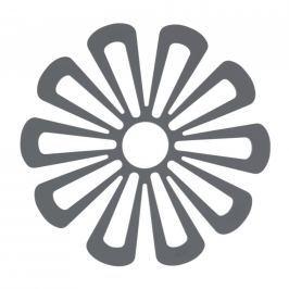 Silikonová podložka pod hrnce květina 15,8 cm tmavě šedá