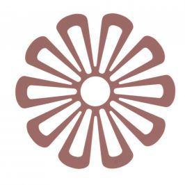 Silikonová podložka pod hrnce květina 15,8 cm červená