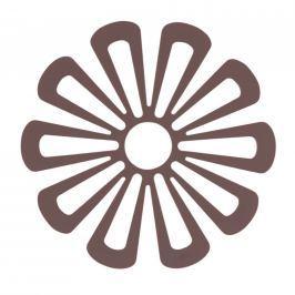 Silikonová podložka pod hrnce květina 15,8 cm švestková