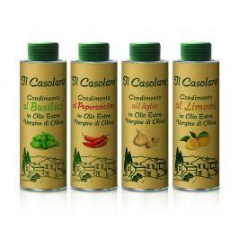 Farchioni Výhodné balení ochucených olivových olejů Il Casolare 4 x 250 ml