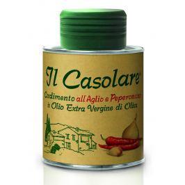 Extra panenský olivový olej s česnekem a chilli IL Casolare 100 ml [EXP]