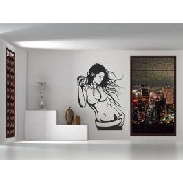 Samolepka na zeď Dívka 016