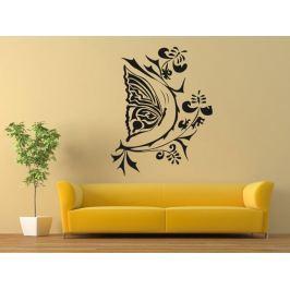 Samolepka na zeď Květiny s motýly 004