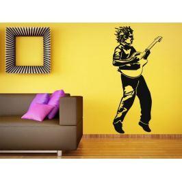 Samolepka na zeď Kytarista 001