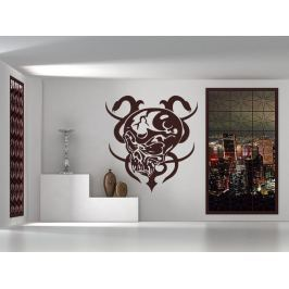 Samolepka na zeď Lebka s hady 001