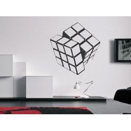 Samolepka na zeď Rubikova kostka 001