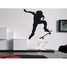 Samolepka na zeď Skateboardista 002