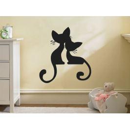 Samolepka na zeď Kočička 002