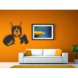 Samolepka na zeď Pes 008
