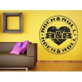Samolepka na zeď Rock And Roll 001